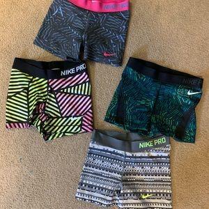 Nike Pro compression shorts size medium